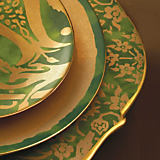 L'Objet Fortuny Green Dinnerware Collection