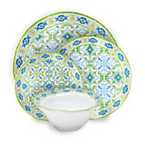 Q SQUARED Lima Melamine Dinnerware Collection