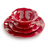 Q SQUARED Ruffle Paprika Melamine Dinnerware Collection