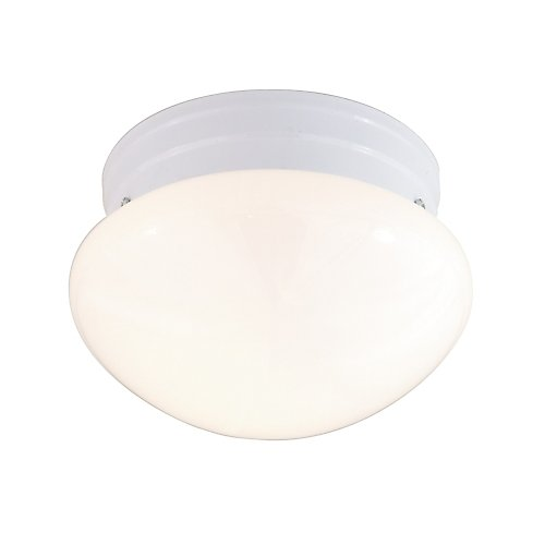 Satco White Mushroom Flush Mount Ceiling Light