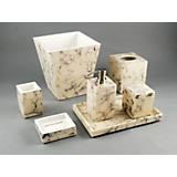 Pacific Connections	Cream Carrara Lacquer Bath Accessories