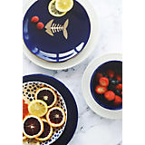 Gracious Home Cobalt Dots Dinnerware Collection