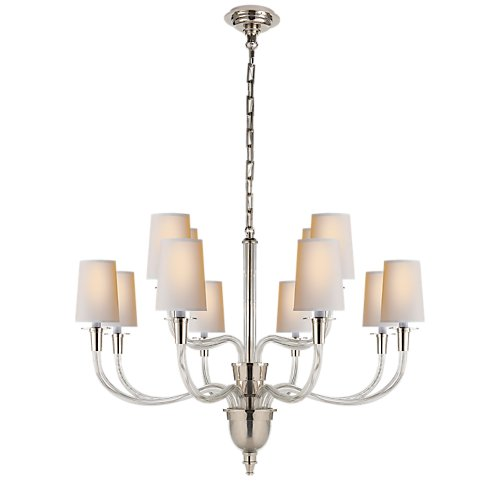 Thomas O'Brien Vivian Two-Tier Chandelier