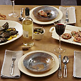 Vietri Earth Glass with Lastra Cream Dinnerware Collection