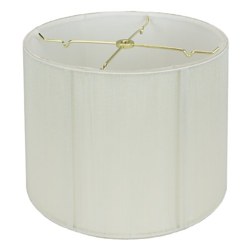 Monterlite Off White Silk String Shallow Drum Lamp Shade