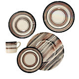 Gracious Home Modern Wood Dinnerware