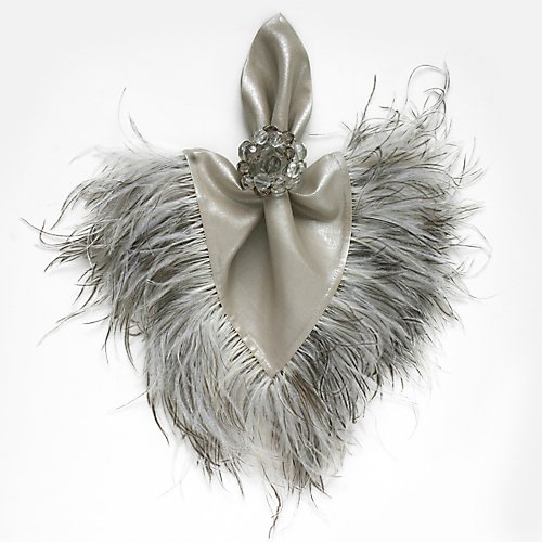Dransfield And Ross Ostrich Feather Napkin