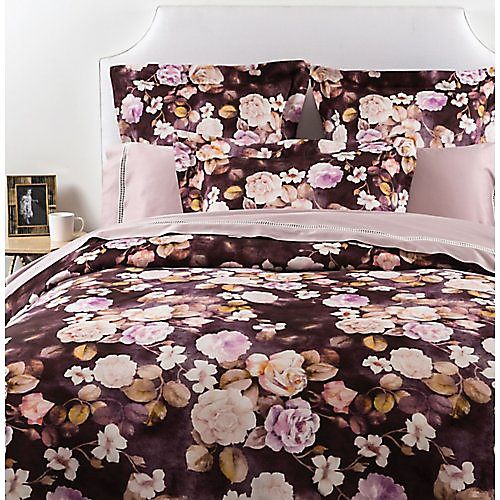Gracious Home Plum Fiore & Lattice Bedding Collection