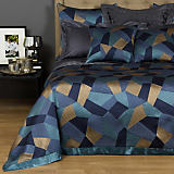 Frette Lux Abstract Blue & Gold Bedding