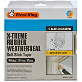 Frost King Extreme Rubber Weather Seal Tape