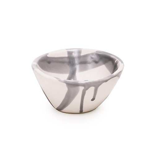 Alex Marshall Abstract Stripe Grey Bowl