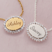 Personalized Oval Pendant