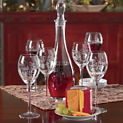 7 Piece Decanter Set and Big Red Cheddar