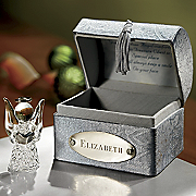 Angel In Personalized Treasure Chest