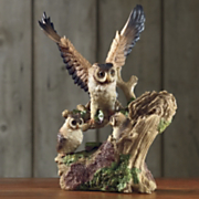 Figurine Owl Family