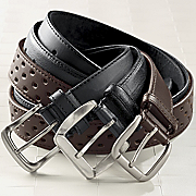 3 piece Mens Leather Belt Set