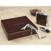 Personalized Flask and Wine Tool Set