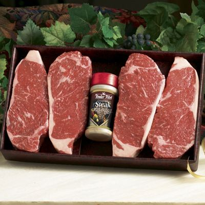 Center Cut New York Strip Steaks With Gourmet Seasoning