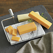 Marble Cheese Slicer and Cheese Assortment
