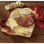 Cutting Board With Cheese and Ham