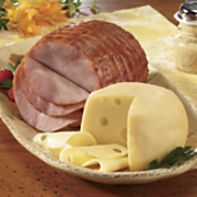 Spiral-sliced Ham & Swiss Cheese