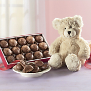 Plush Bear and Chocolate Truffles