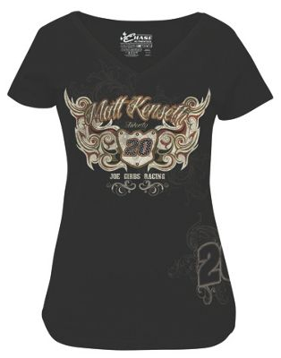 Matt Kenseth 20 Ladies Speed Diva V neck Tee