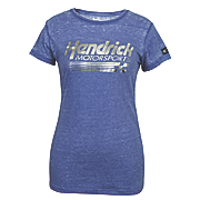 hendricks motorsports ladies burnout scoop neck tee