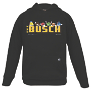 kyle busch 18 youth primary fleece pullover hoodie