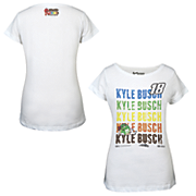 kyle busch 18 ladies repetitive tee