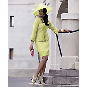 Blanchette Hat And Charity Skirt Suit
