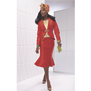 orangerie skirt suit and hat