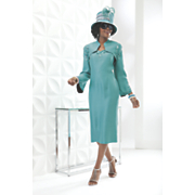 cayman jacket dress and hat
