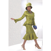key largo skirt suit and hat