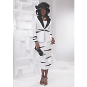 blair skirt suit and hat