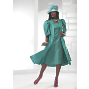 farha jacket dress and hat
