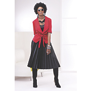 Wilhelmina Wrap Jacket and A Line Skirt
