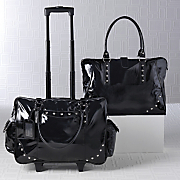 Studded Patent Travel Bags