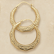 Ornate Edge Hoops