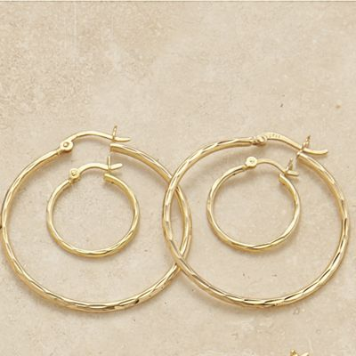 2 Pair Hoop Set