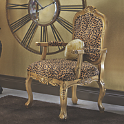 Chair Leopard Carved