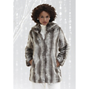Jacket Faux Fur Chinchilla Collar