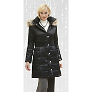 Coat Quilted Cinch Waist