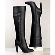 Boot Knee High Outside Zip By Midnight Velvet