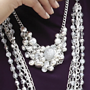 Necklace Sparkle Sphere Crystal Cluster