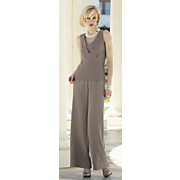 Tucked V Neck Top And South Coast Split Waist Palazzo Pant