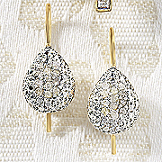 Earrings Leverback Diamond Teardrop Cluster