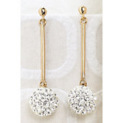 Earrings Crystal Ball Drop Post