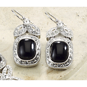 Earrings Cabochon Crystal