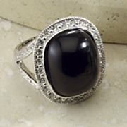 Ring Cabochon Crystal